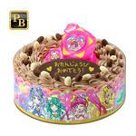 キャラデコお祝いケーキ スター☆トゥインクルプリキュア(チョコクリーム)[5号サイズ]_0