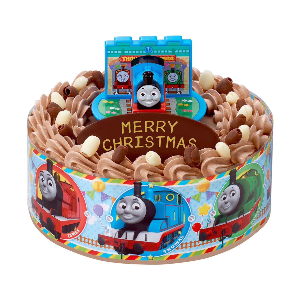 キャラデコお祝いケーキ きかんしゃトーマス(チョコクリーム)[5号サイズ]【2019年12月発送・クリスマス予約】_7