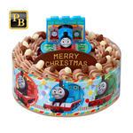 キャラデコお祝いケーキ きかんしゃトーマス(チョコクリーム)[5号サイズ]【2019年12月発送・クリスマス予約】_0