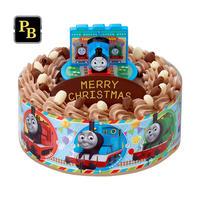 キャラデコお祝いケーキ きかんしゃトーマス(チョコクリーム)(5号サイズ)【2021年12月発送・クリスマス予約】