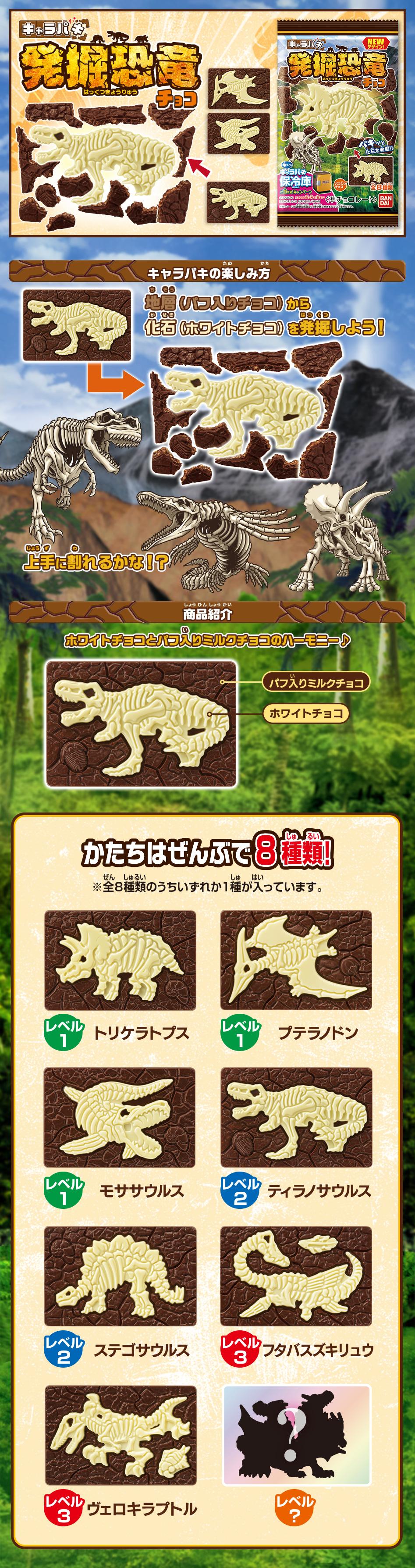 キャラパキ 恐竜発掘(2021年9月リニューアル)