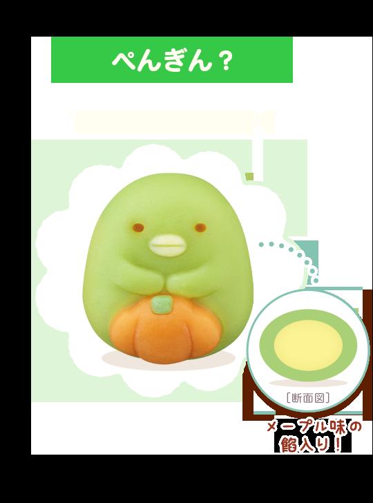 2)ぺんぎん?:かぼちゃも練り切りで再現